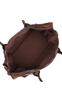 Вместительная стильная кожаная сумка 77079
