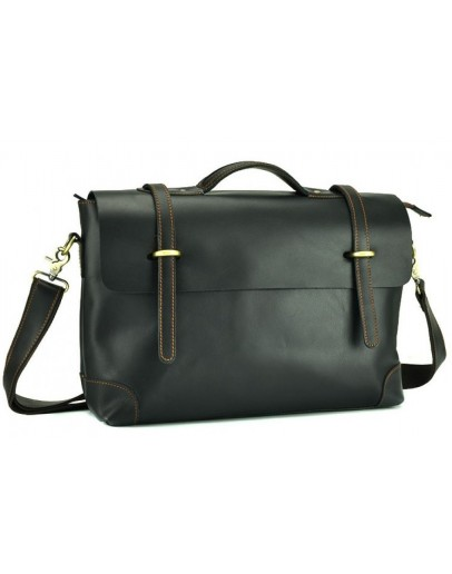 Фотография Черный удобный мужской кожаный портфель 77082-A2