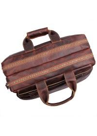 Кожаная мужская сумка, плотная кожа 77085Q