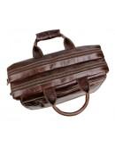 Фотография Кожаная коричневая удобная мужская сумка 77085c-1