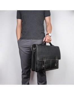 Стильный безупречный портфель черно-коричневого цвета 77090A