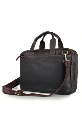 Коричневая сумка для мужчины из телячьей кожи 77092Q