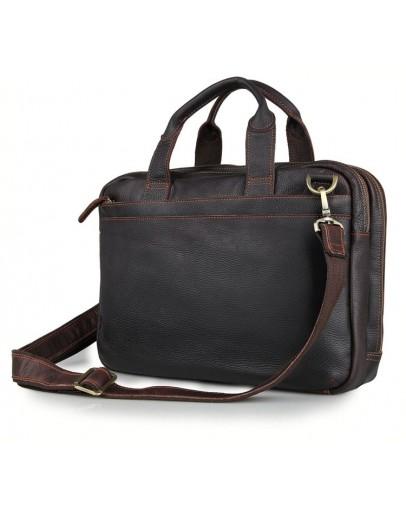 Фотография Коричневая сумка для мужчины из телячьей кожи 77092Q