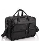 Фотография Большая черная мужская кожаная сумка 77093A