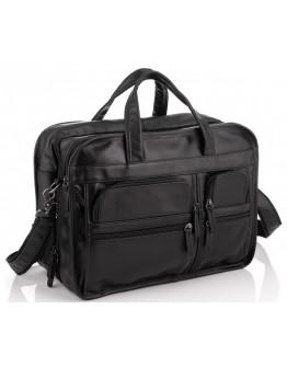 Большая черная мужская кожаная сумка 77093A