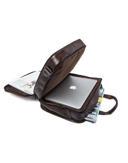 Темно-коричневая кожаная мужская сумка для командировок 77093C
