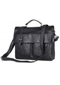 Черный кожаный мужской портфель на каждый день 77013a
