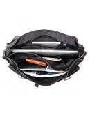 Фотография Черный кожаный мужской портфель на каждый день 77013a