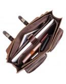 Фотография Коричневый портфель мужской, кожаный 77105q-1