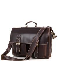 Портфель мужской кожаный большой коричневый 77105q
