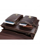 Фотография Портфель мужской кожаный большой коричневый 77105q