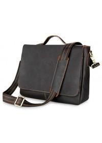 Добротный и очень стильный мужской кожаный портфель 77108Q-1