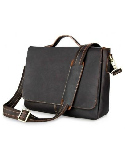 Фотография Добротный и очень стильный мужской кожаный портфель 77108Q-1