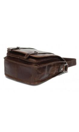 Кожаный мужской мессенджер коричневого цвета 77109C