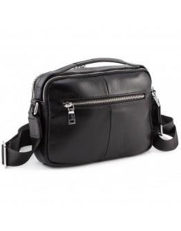 Черная мужска кожаная сумка - барсетка Marco Coverna 7711-1A black