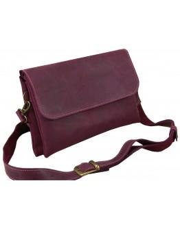 Бордовая женская кожаная сумка на плечо 771129-SGE