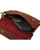 Фотография Бордовая женская кожаная сумка на плечо 771129-SGE