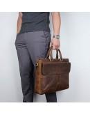 Фотография Повседневный мужской портфель из конской кожи 77113R2
