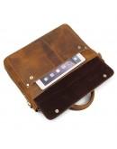 Фотография Кожаная мужская сумка песочного цвета 77113B-2