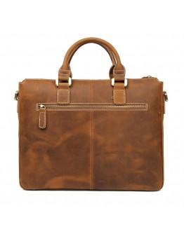 Кожаная мужская сумка песочного цвета 77113B-2