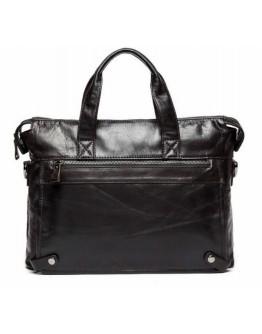Тёмно-коричневая кожаная сумка для мужчин 77120C-2