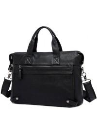 Черная мужская кожаная сумка, повседневная 77120a-2