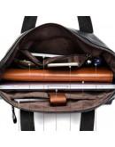 Фотография Черная мужская кожаная сумка, повседневная 77120a-2