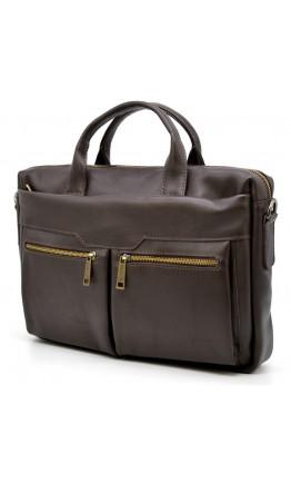 Деловая кожаная мужская коричневая сумка 77122С-5