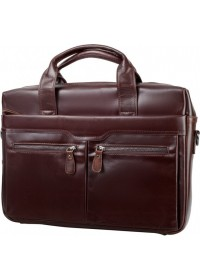 Кожаный коричневый портфель из натуральной кожи 77122C2