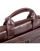 Фотография Кожаный коричневый портфель из натуральной кожи 77122C2