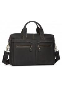 Коричневая мужская кожаная сумка для документов 77122RA