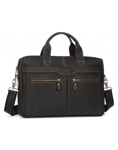 Фотография Коричневая мужская кожаная сумка для документов 77122RA