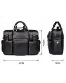 Фотография Удобная кожаная мужская вместительная сумка 77028A