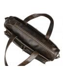 Фотография Вместительная мужская сумка темно-коричневого цвета 77138Q