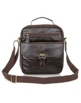 Удобная кожаная мужская сумка на плечо и в руку 77141
