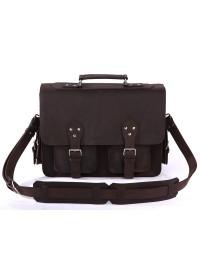 Тёмно-коричневый мужской кожаный портфель 77145r