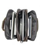 Фотография Кожаная сумка мужская цвета мокрого асфальта 77146J
