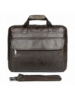 Кожаная сумка мужская цвета мокрого асфальта 77146J