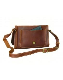 Женская светло - коричневая кожаная сумка 77149-SGE