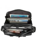 Фотография Черная функциональная мужская большая сумка 77150A