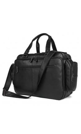 Черная функциональная мужская большая сумка 77150A