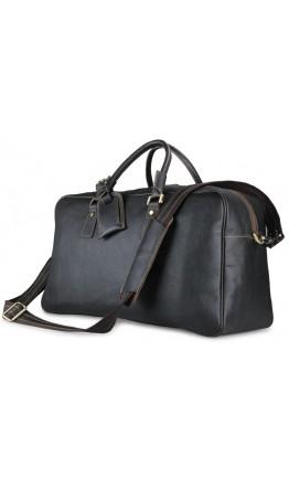 Большая чёрная мужская дорожная сумка 77156LA