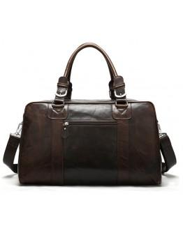 Большая спортивная, дорожная, повседневная коричневая сумка 77190С