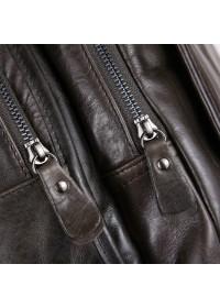 Большой серый мужской кожаный рюкзак 77202J