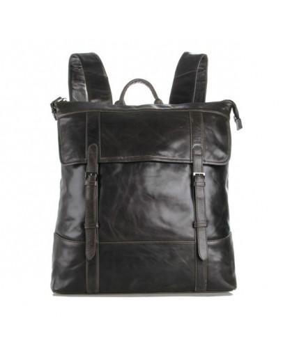Фотография Серый кожаный мужской рюкзак 77203j