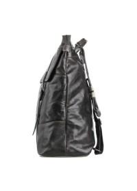 Серый кожаный мужской рюкзак 77203j