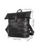 Фотография Удобный серый кожаный мужской рюкзак 77204-1