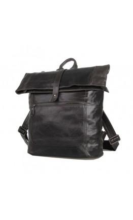 Удобный серый кожаный мужской рюкзак 77204-1
