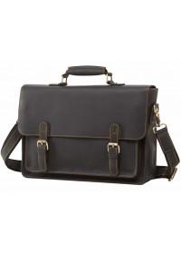 Кожаный мужской черный портфель 77205A