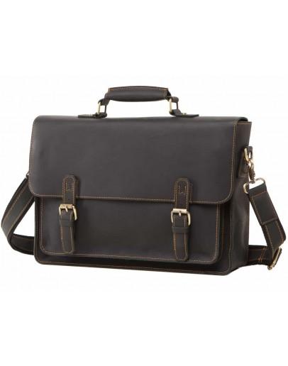 Фотография Кожаный мужской черный портфель 77205A